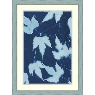 Framed Art Print 'Cyanotype No.10' by Renee W. Stramel 24 x 32-inch