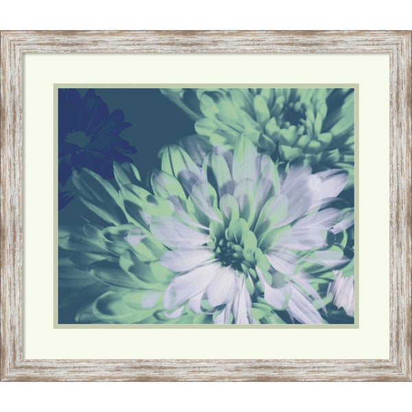 Framed Art Print 'Teal Bloom II' by A. Project 28 x 24-inch