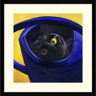 Isy Ochoa 'Cat in the Watering Can, 1996' Framed Art Print 19 x 19-inch