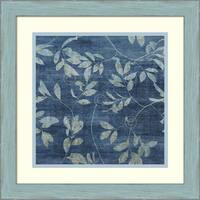 Framed Art Print 'Denim Branches I' by Mali Nave 19 x 19-inch