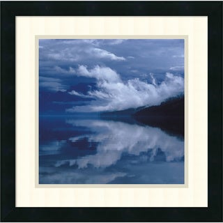 Framed Art Print 'Glacial Mist' by Leslie Mueller 18 x 18-inch