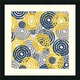 Framed Art Print 'New Circles 1' by Alicia Soave 22 x 22-inch