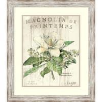 Framed Art Print 'Magnolia de Printemps' by Sue Schlabach 20 x 23-inch