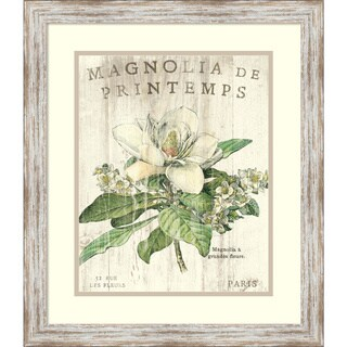 Framed Art Print 'Magnolia de Printemps' by Sue Schlabach 20 x 23-inch