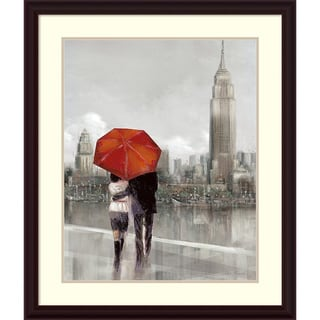 Ruane Manning 'Modern Couple in NY' Framed Art Print 31 x 37-inch