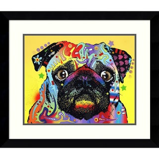 Framed Art Print 'Pug Dog' by Dean Russo 29 x 25-inch