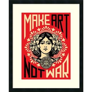 Framed Art Print 'Make Art Not War' by Shepard Fairey 24 x 30-inch