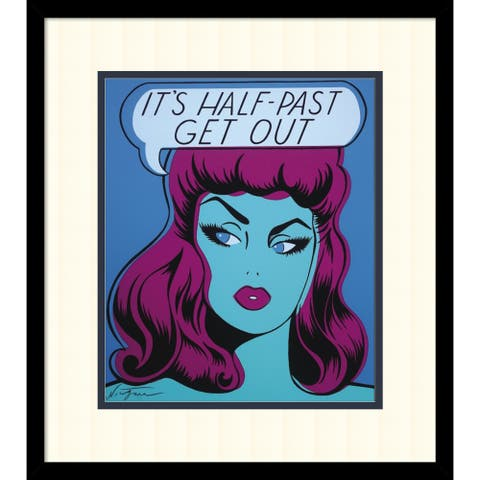 Framed Art Print 'It's Half Past Get Out' by Niagara Detroit 17 x 19-inch