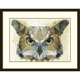 Ancello 'Abstract Owl' Framed Art Print 37 x 29-inch