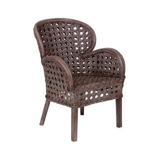 Sumas Transitional Smoky Grey Distressed Chair