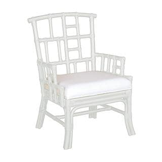 Pearland Contemporary White Painted Chair