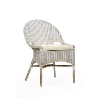 Ruston Rustic White Textured Chair