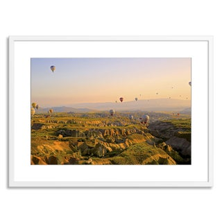 Gallery Direct New Era Originals 'Hot Air Ballons in the Morning' Paper Framed