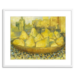 Gallery Direct Sylvia Angeli 'Bowl of Pears' Paper Framed