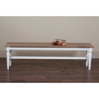 Rochester Rustic White Accent Bench