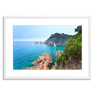 Gallery Direct FTOLIA 'Mediterranean coast of Spain' Paper Framed