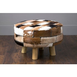 Gates Modern Black/White/Brown Textured Stool