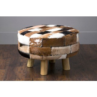 East At Main's Gates Modern Black/White/Brown Textured Stool