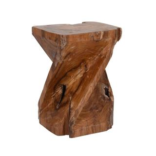 Wheeler Transitional Brown Polished Drum Stool