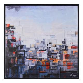 Ren Wil 'Downtown City' Framed Canvas Art