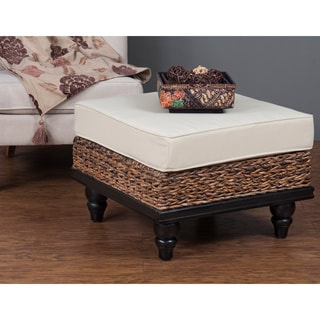 Nehalem Contemporary Tan Abaca Ottoman