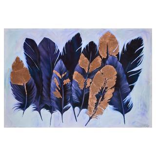 Ren Wil 'Purple Plume' Unframed Canvas Art