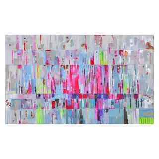 Ren Wil 'Pink Abstraction' Hand Painted Canvas Art