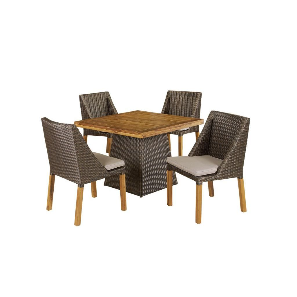 Crafted Home Decorative Modern Indoor/Outdoor Dining Set ...