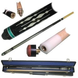 Designer Image 2-piece Billard Pool Stick w/ Case - Thumbnail 1