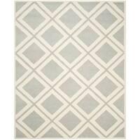 Safavieh Handmade Chatham Grey/ Ivory Wool Rug - 8' x 10'