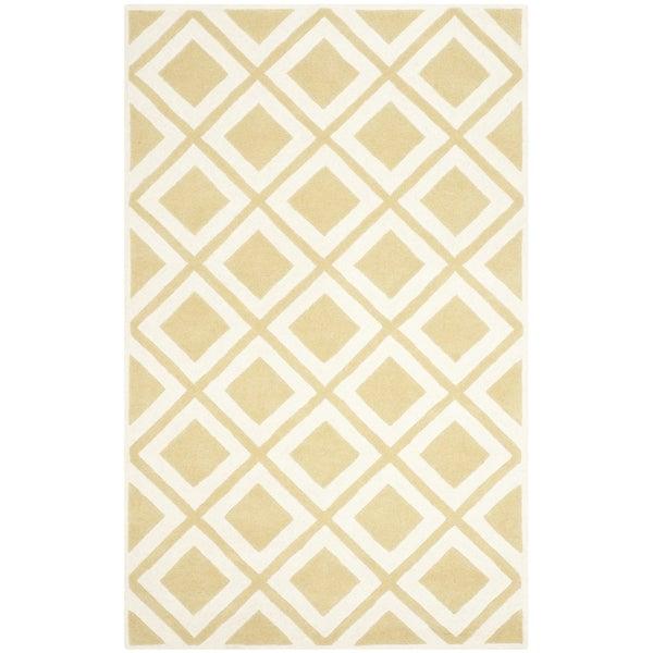 Safavieh Handmade Chatham Gold/ Ivory Wool Rug - 8' x 10'