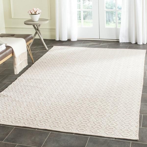 safavieh hand woven montauk ivory beige cotton rug 4 39 x 6 39 free