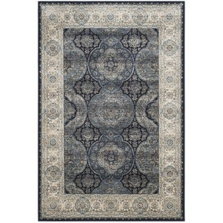 Safavieh Persian Garden Vintage Navy/ Ivory Distressed Silky Viscose Rug (4' x 5'7)