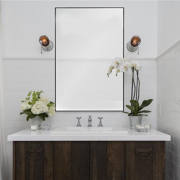 Overstock Mirrors: Shop Ren Wil Johann Framed Wall Mirror