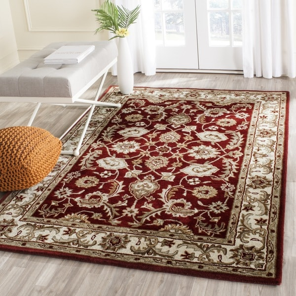 Safavieh Handmade Royalty Red/ Beige Wool Rug - 8' x 10'