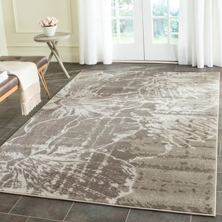 Safavieh Porcello Modern Floral Grey/ Dark Grey Rug (8'2 x 11')