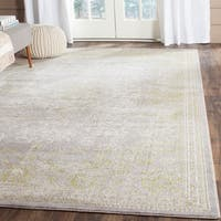 Safavieh Passion Vintage Oriental Grey / Green Distressed Rug - 8' x 11'