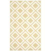 Safavieh Handmade Chatham Gold/ Ivory Wool Rug - 6' x 9'