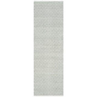 Safavieh Handmade Boston Tilla Coastal Cotton Rug (23 x 7 Runner - Grey)