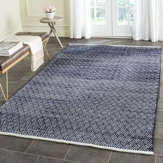 Safavieh Handmade Boston Tilla Coastal Cotton Rug (8 x 8 Square - Navy)
