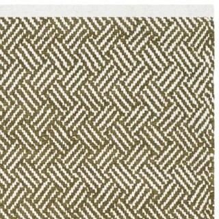 Safavieh Handmade Boston Tilla Coastal Cotton Rug (4 x 4 Square - Olive)