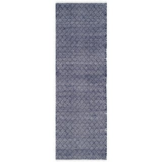 Safavieh Handmade Boston Tilla Coastal Cotton Rug (23 x 11 Runner - Navy)