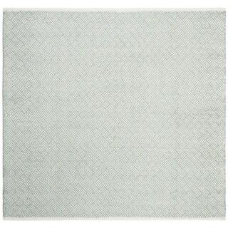 Safavieh Handmade Boston Tilla Coastal Cotton Rug (6 x 6 Square - Grey)