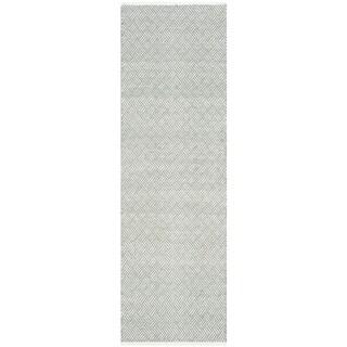 Safavieh Handmade Boston Tilla Coastal Cotton Rug (23 x 9 Runner - Grey)