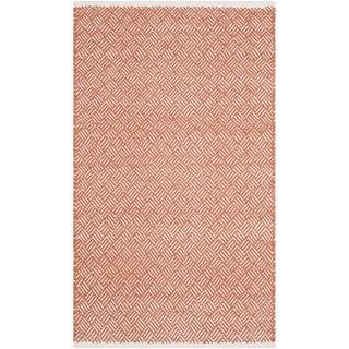 Safavieh Handmade Boston Tilla Coastal Cotton Rug (3 x 5 - Orange)