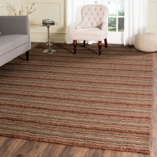 Safavieh Handmade Himalaya Brown/ Multicolored Wool Stripe Area Rug (8' x 10')