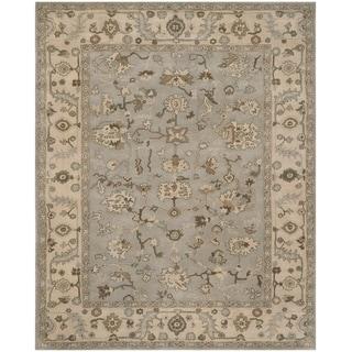 Safavieh Handmade Heritage Timeless Traditional Beige/ Grey Wool Rug (6' x 9')