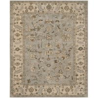 Safavieh Handmade Heritage Timeless Traditional Beige/ Grey Wool Rug - 6' x 9'