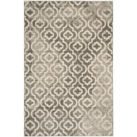 Safavieh Porcello Contemporary Moroccan Grey/ Ivory Rug - 6' x 9'