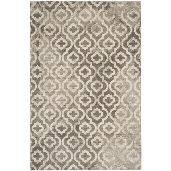 Safavieh Porcello Contemporary Moroccan Grey/ Ivory Rug (6' x 9')
